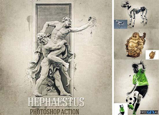 Hephaestus Photoshop Action