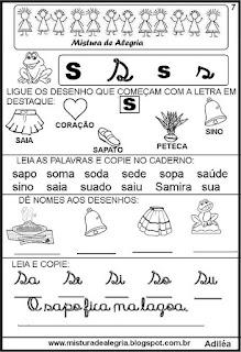 Livro famílias silábicas letra S