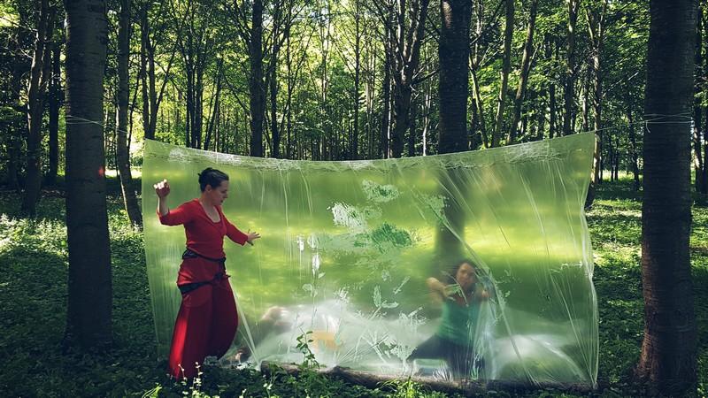 Performance par la compagnie la Croisée des chemins et la compagnie AMK - Festival 1.9.3 Soleil