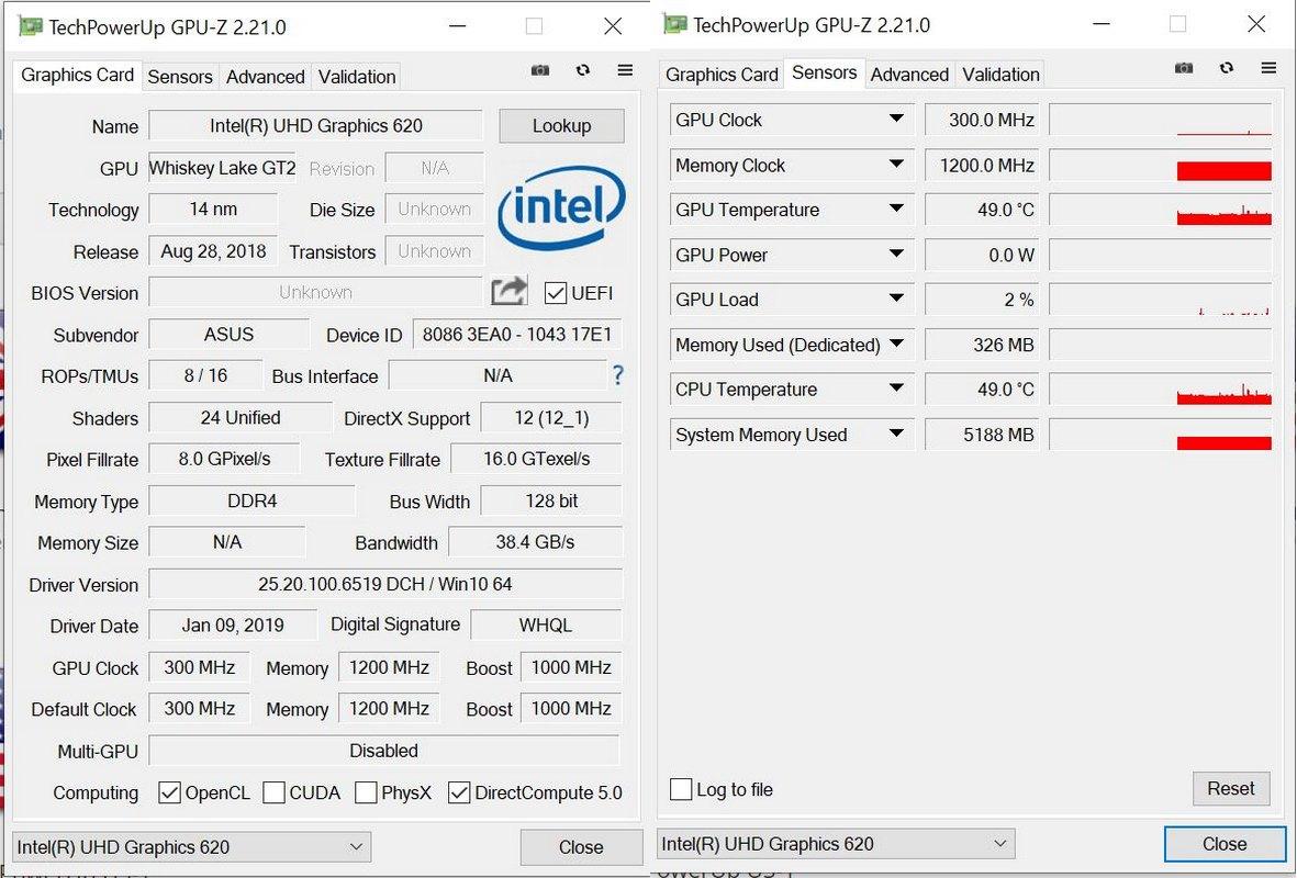 GPU-Z Asus Vivobook Ultra A412FA EK303T