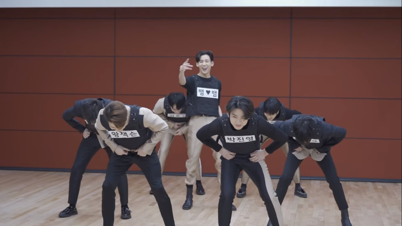 GOT7 Play the Name Tag Ripping Game in 'You Calling My Name' Dance Practise Video