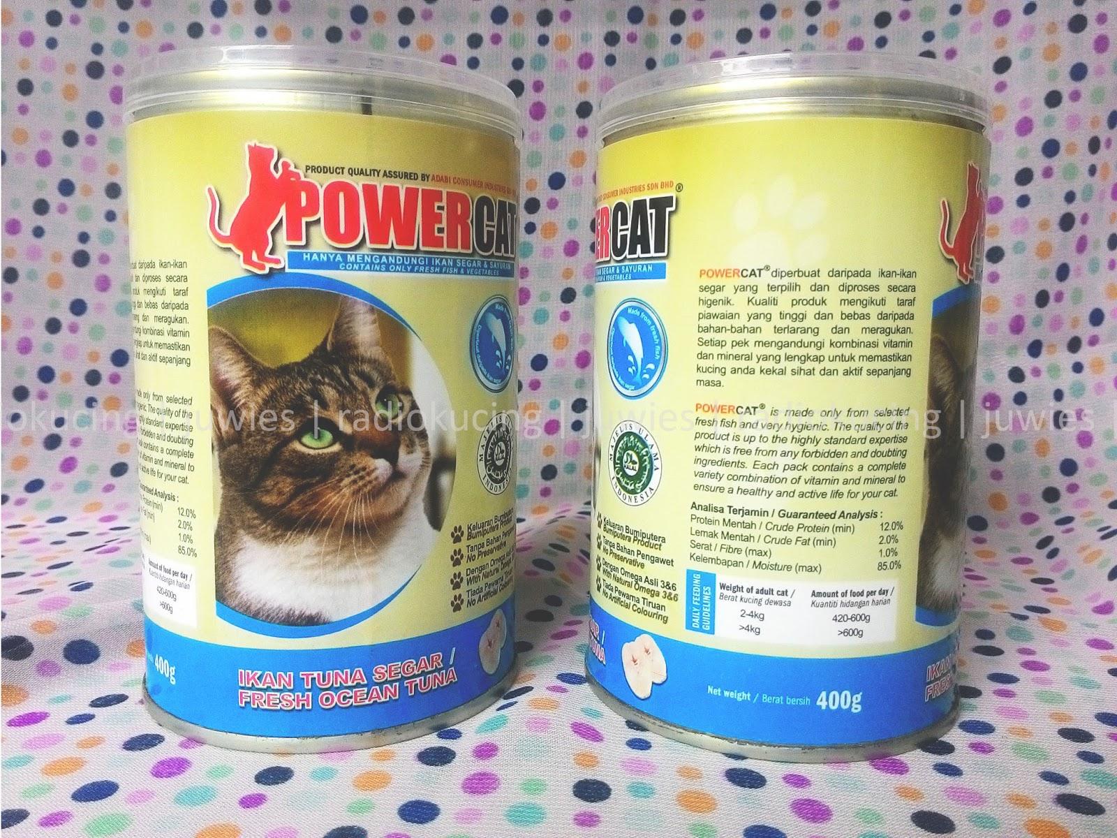 Review Makanan Kucing Basah Wet Food Power Cat Kemasan Kaleng Varian Fresh Tuna Ikan Tuna Segar Radiokucing Com