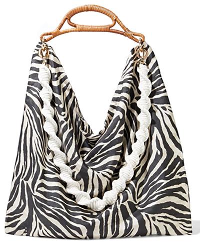 Zimmermann zebra satin slouch bag