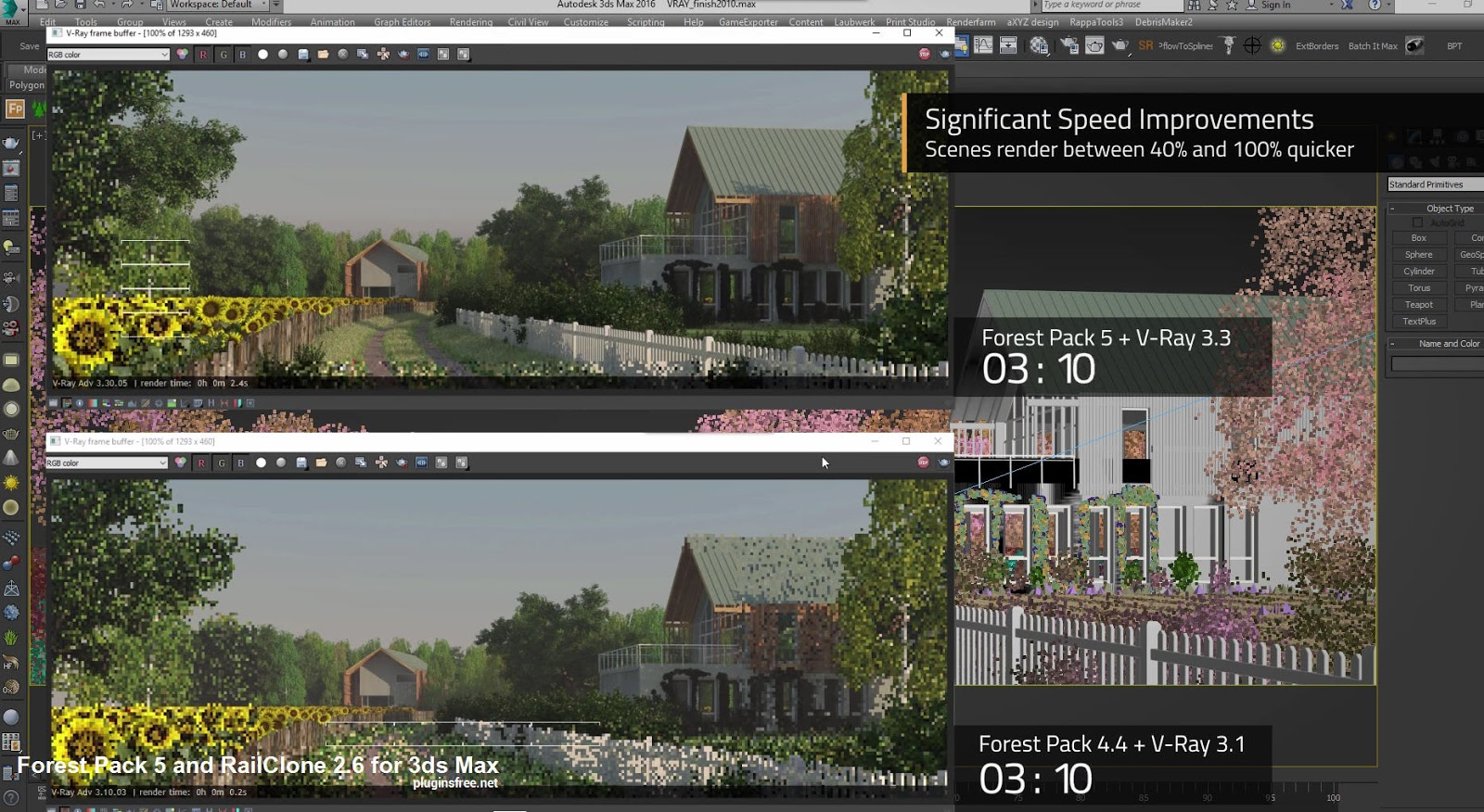 V-ray hdri lighting for exterior render in 3ds max.