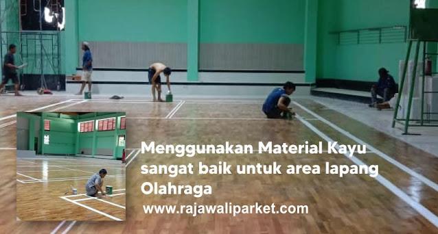 lantai kayu lapangan futsal