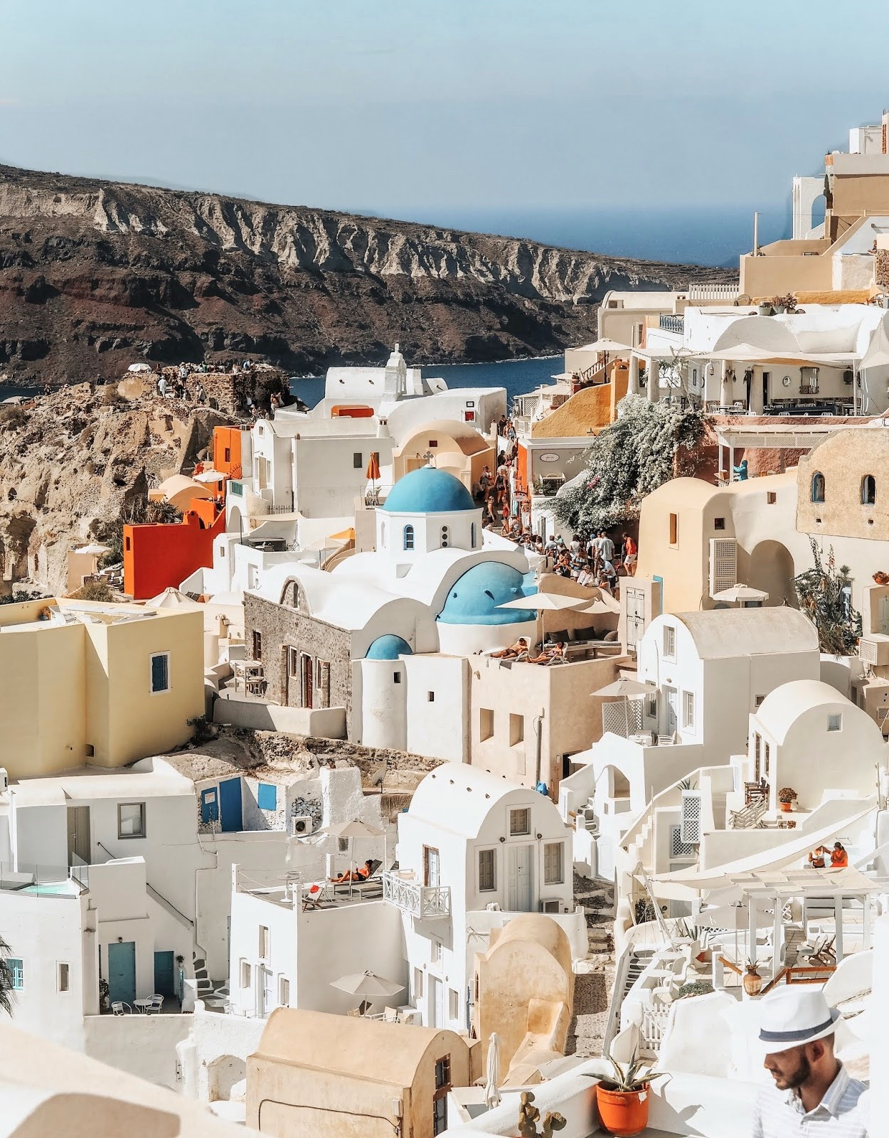 White roofs and buildings from Santorini in Greece