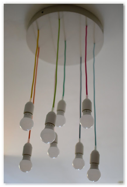 Lustre multicolore DIY pas cher