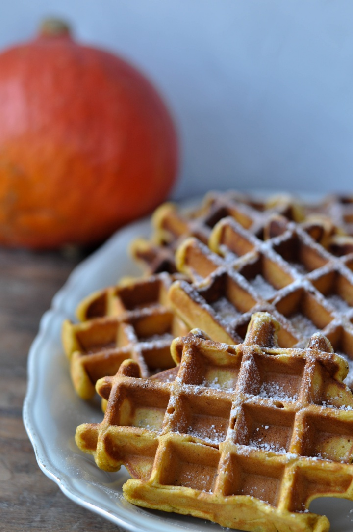 #pumpkin #cheesecake #waffles #glutenfree and easy to make, perfect for #fall