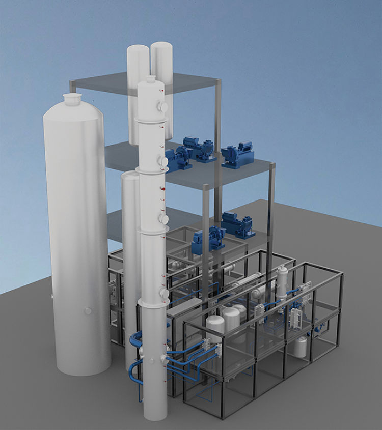 El gas de síntesis rico en carbono, el CO2 y el metano generados por las actividades industriales pueden someterse a la fermentación microbiana, seguida de procesos de separación, para obtener un espectro de combustibles y otros materiales orgánicos útiles materiales orgánicos útiles