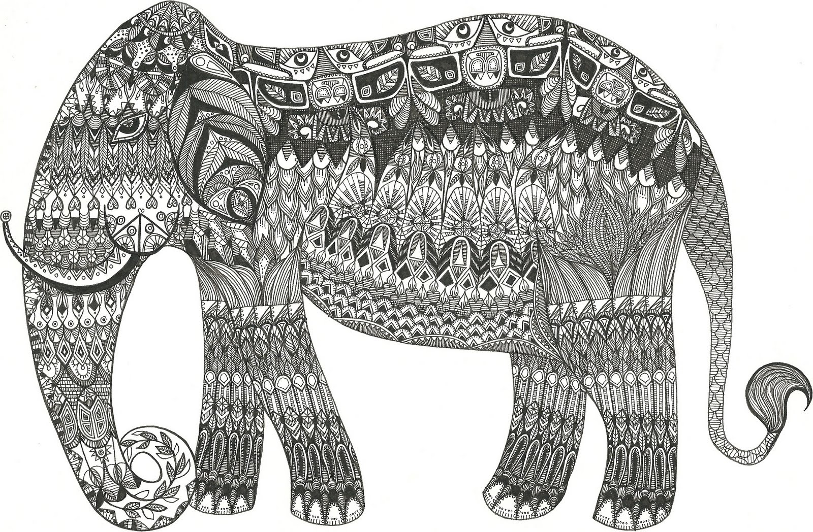 Jessica Rose Anne Illustration Elephant