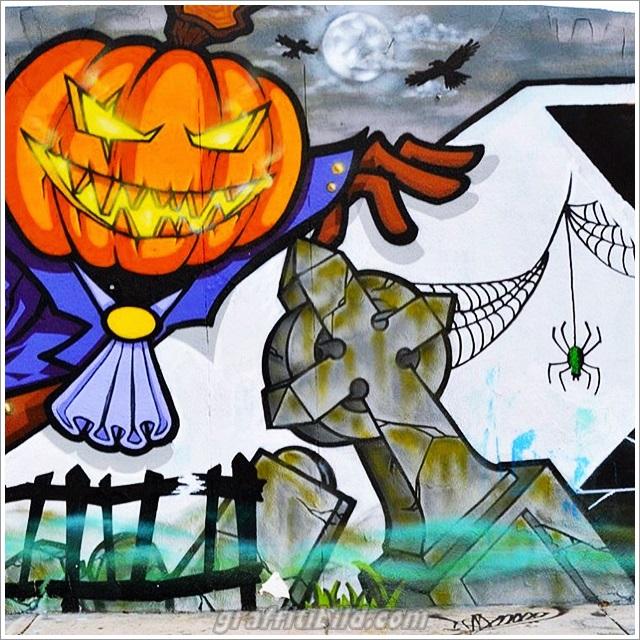 Halloween, graffiti, street art