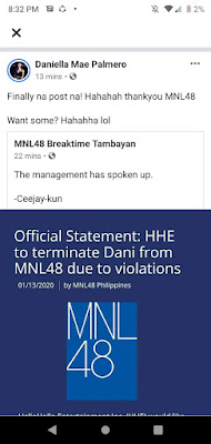 Dani wants to spread other MNL48 members scandal