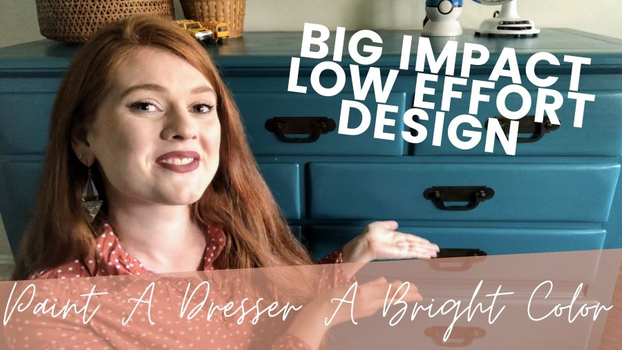 Easy Projects For Big Impact Design - Paint A Bright Teal Dresser TheBohoAbode Project