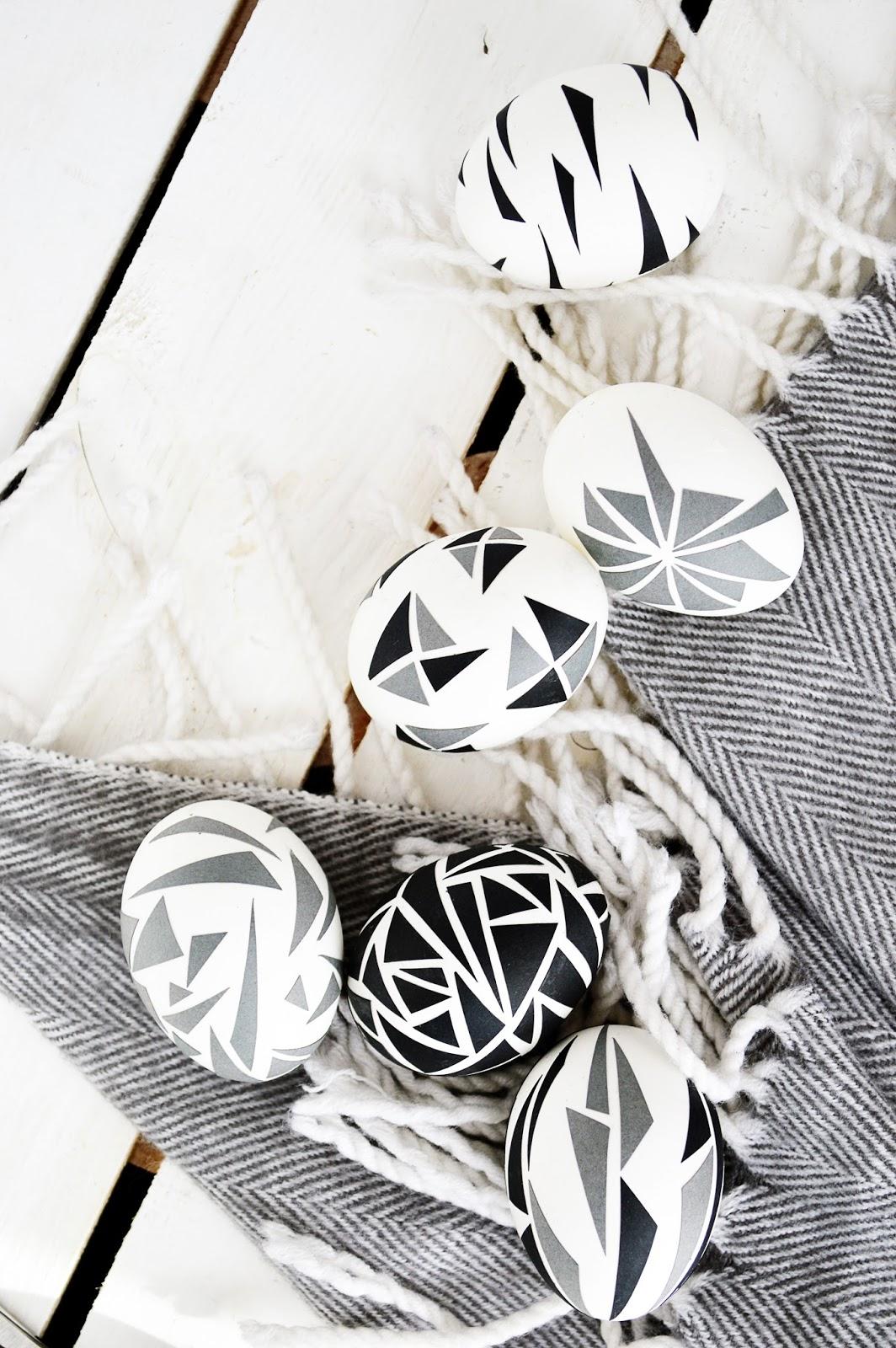 DIY Geometric Triangle Easter Eggs   Motte's Blog