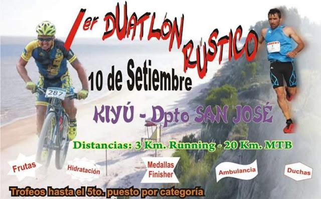 Duatlón rústico en Kiyú (San José, 10/sep/2016)