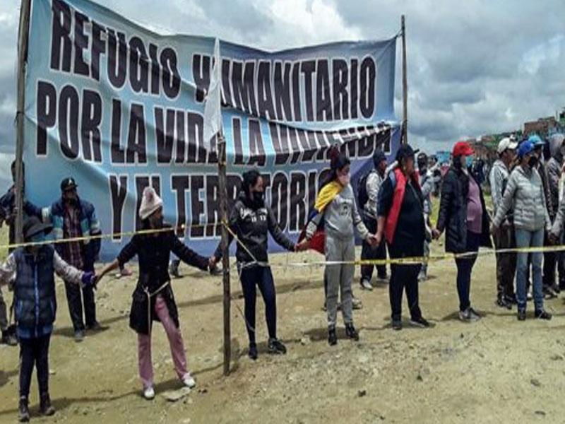 Refugio humanitario por la vida, la vivienda y el territorio en Ciudad  Bolívar