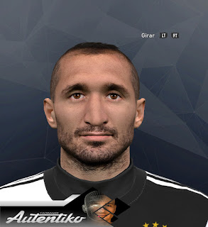 PES 2017 Faces Giorgio Chiellini by Autentiko
