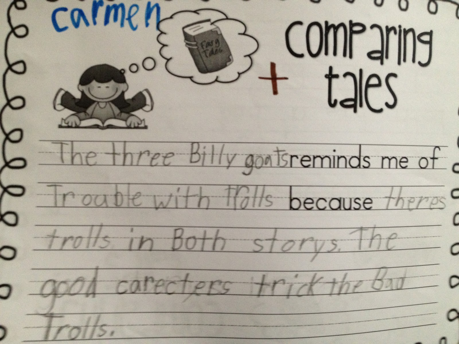 Sarah S First Grade Snippets Finishing Fairy Tales
