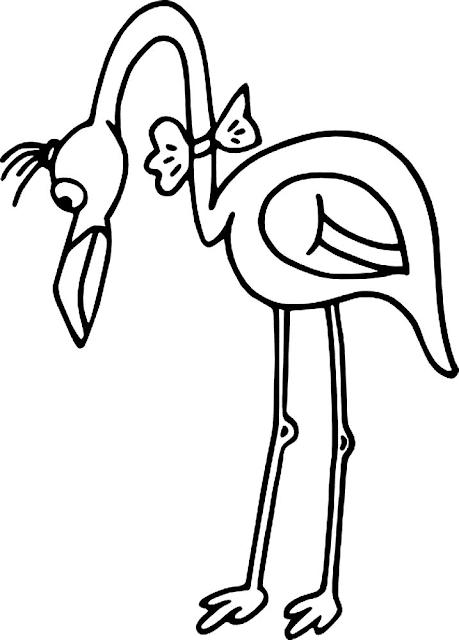 Mewarnai Gambar Burung Bangau - 5