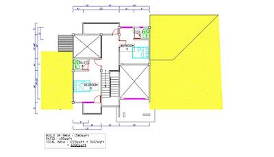Pelan rumah 2 tingkat 5 bilik tidur 6 bilik air 6882 kaki persegi