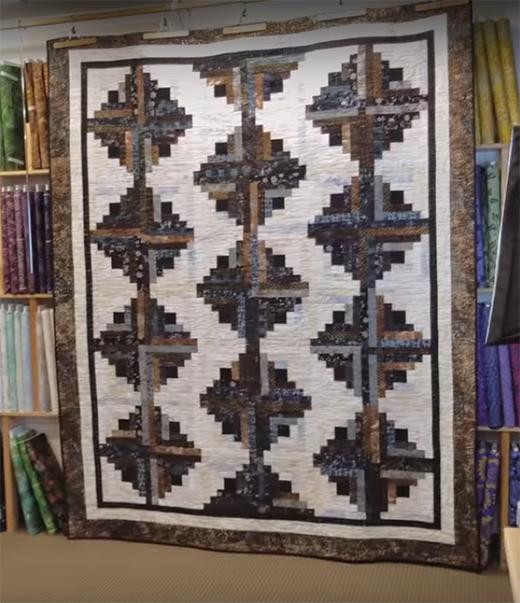 Fat Quarter Log Cabin Quilt designed by Donna Jordan for Jordan Fabrics