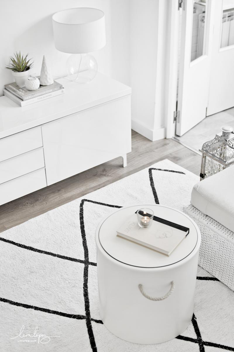 NEW NORDIC STYLE RUG IN LIVING-ROOM / Nueva alfombra de estilo nórdico en el salón