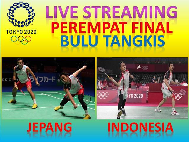 Link Live Streaming Olimpiade Perempat Final Badminton Ganda Putra : K. Sonoda/T. Kamura (Jepang) Vs M. Ahsan/Hendra Setiawan (Indonesia) Jam 09.35