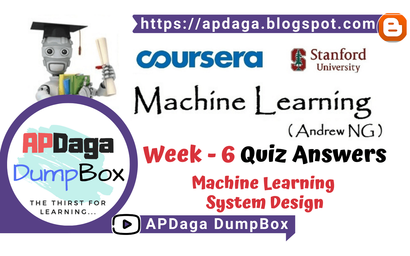 Coursera Machine Learning Week 6 Quiz Machine Learning System Design Andrew Ng Apdaga Dumpbox The Thirst For Learning