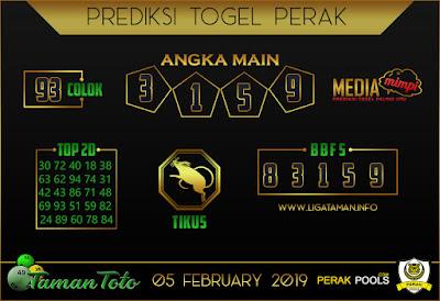 Prediksi Togel PERAK TAMAN TOTO 05 FEBRUARI 2019