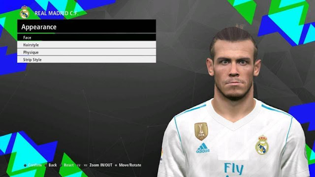 Face Gareth Bale PES 2017