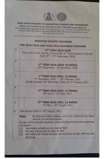 kogi state academic calendar