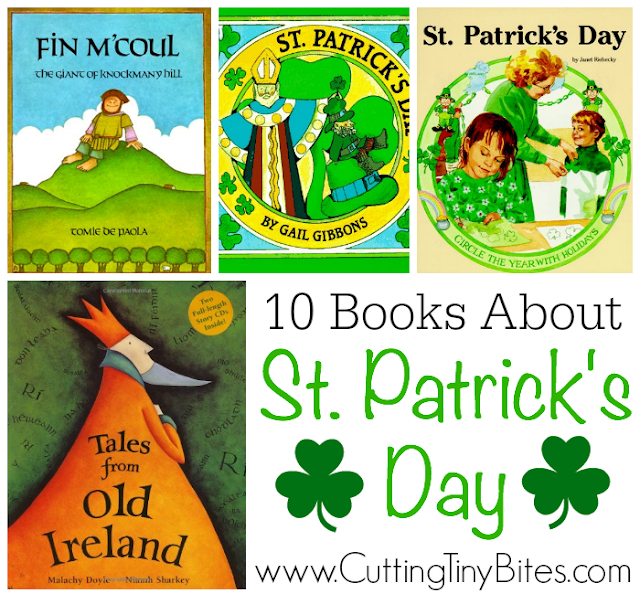 Books About St. Patrick's Day and Ireland for kids. Choices for toddlers, preschoolers, and elementary kids. Brief reviews of each!