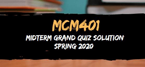 MCM401 midterm grand quiz solved spring2020