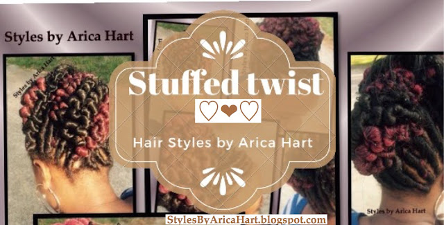 Stuffed twist, hairstyles for black women