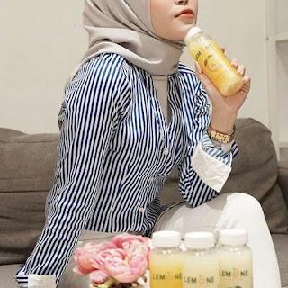gambar Cara terbaik meminum sari lemon lemone