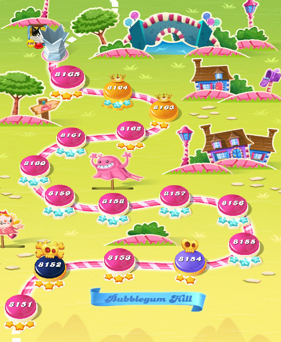 Candy Crush Saga level 8151-8165