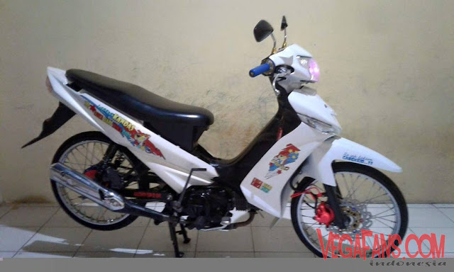 Vega ZR Modif Super Simple Putih