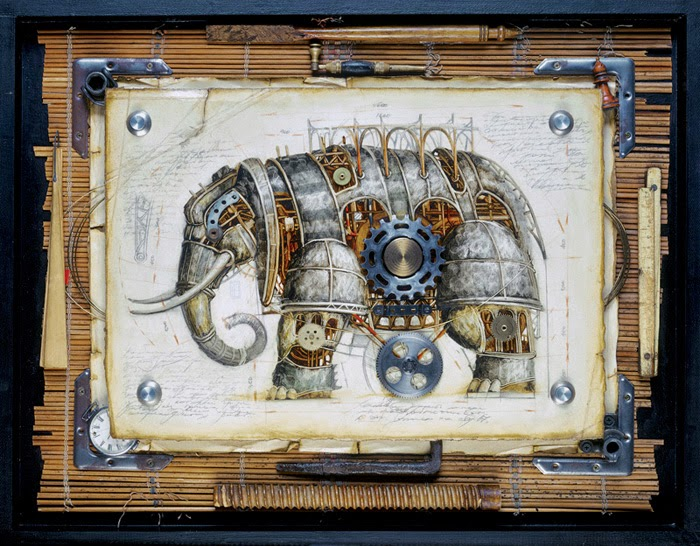 05-Vladimir-Gvozdev-Surreal-Steampunk-Animal-Drawings-www-designstack-co