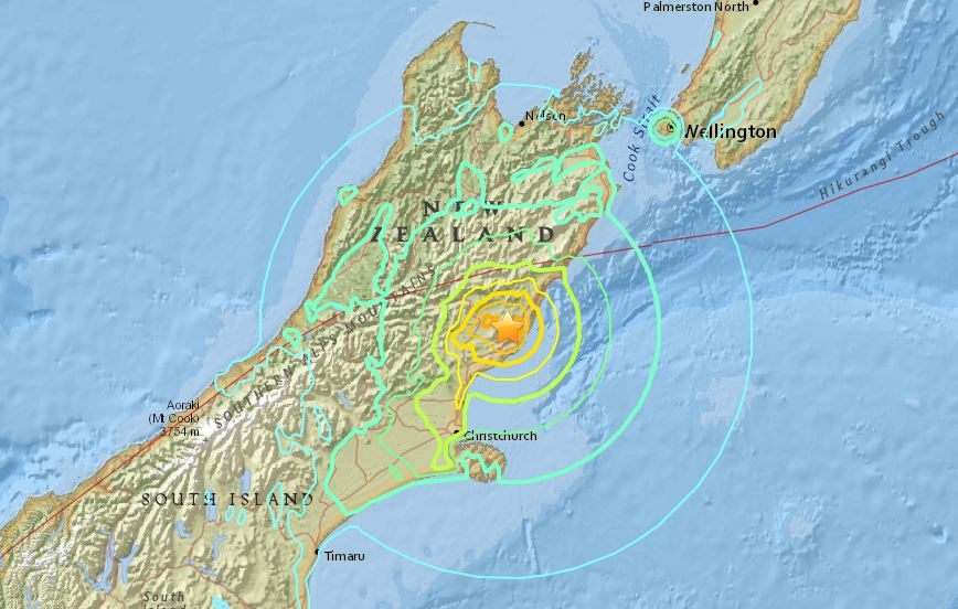 Powerful magnitude 7.4 earthquake hits New Zealand