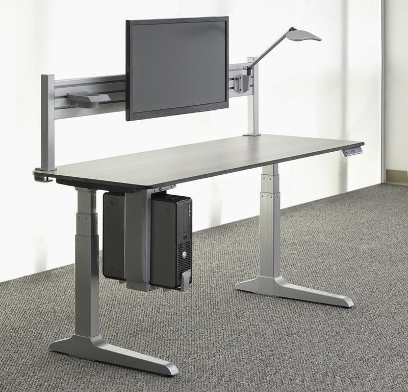 Ergonomic Desk with CPU Holder