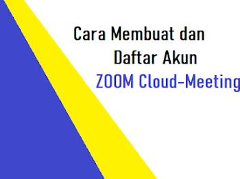 Cara Registrasi dan Membuat Akun Zoom Cloud Meeting