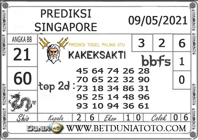 Prediksi Togel SINGAPORE DUNIA4D 09 MEI 2021