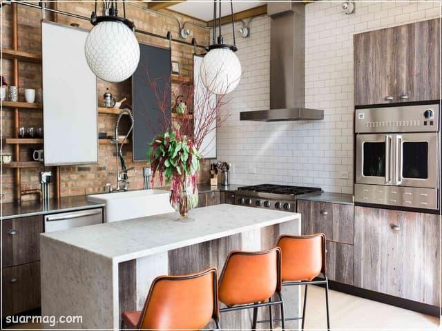 مطابخ مودرن خشب 16   Modern Wood kitchens 16