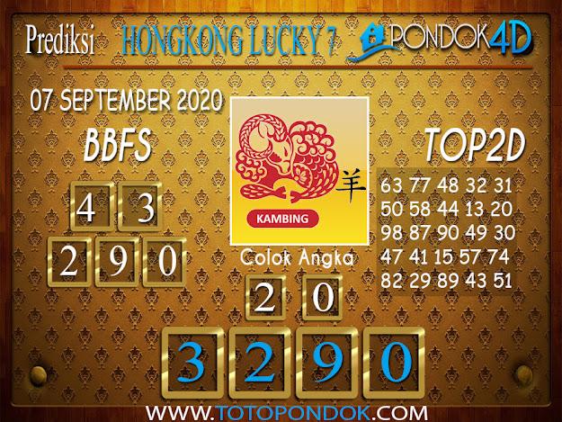 Prediksi Togel HONGKONG LUCKY 7 PONDOK4D 07 SEPTEMBER 2020