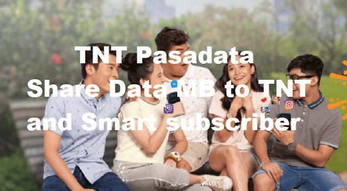 TNT Pasadata : Share Data MB to TNT and Smart subscriber