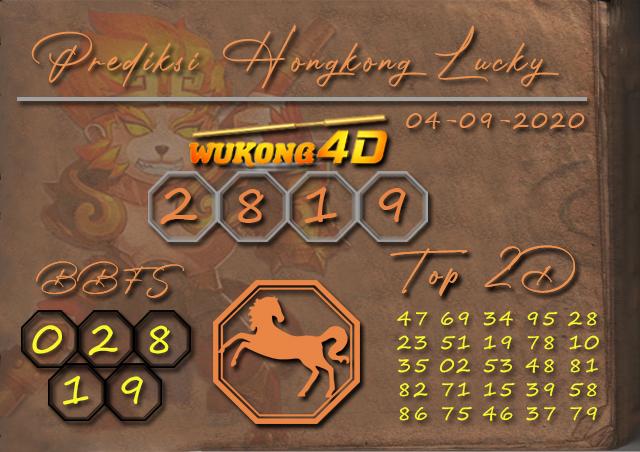 Prediksi Togel HONGKONG LUCKY 7 WUKONG4D 04 SEPTEMBER 2020