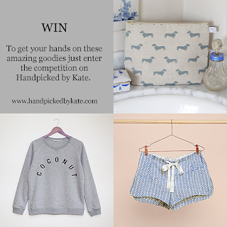 Competition goodies on Handpicked by Kate