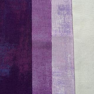 3 purple fabrics