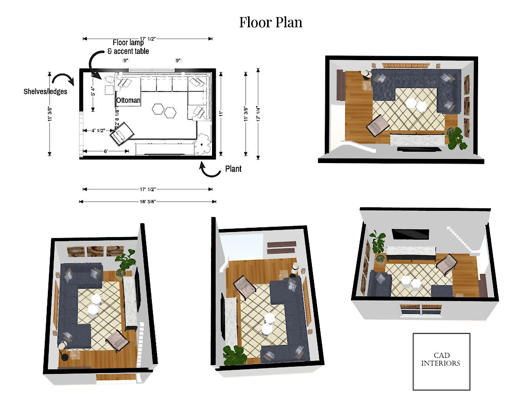 CAD Interiors online interior e-design virtual design decorating mood board floor plan furniture layout floorplanner