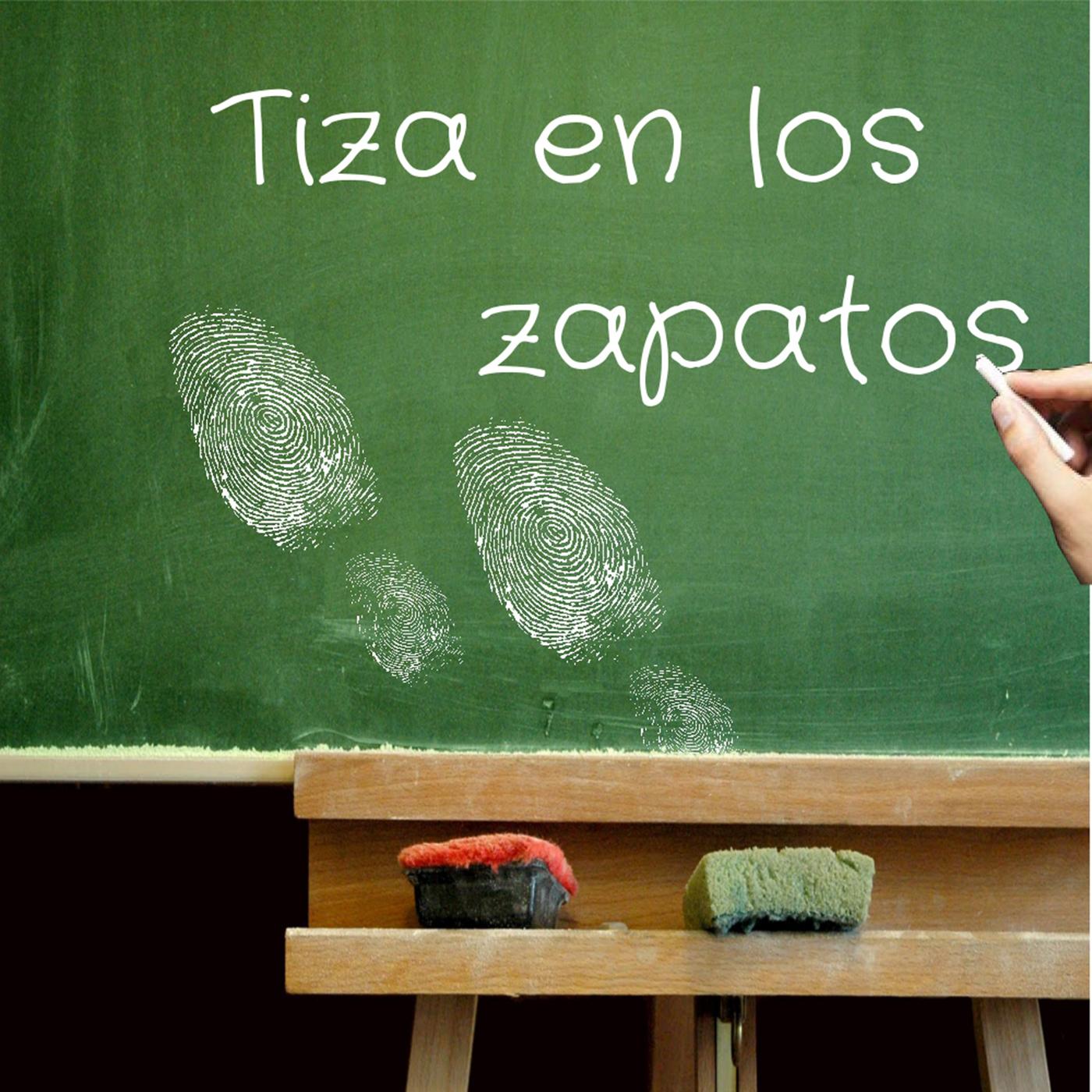 Logo de Tiza en los zapatos